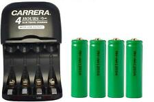 AA / AAA Smart Charger with USB Plug + 4-Pack AA NiMH 1200 mAh Batteries