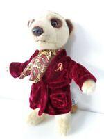 Aleksandr Meerkat dressed in Burgundy Robe 10 inch Soft Plush Toy by Ravensden