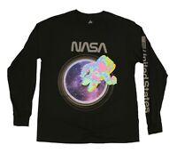 NASA Astronaut Men's T-Shirt Black Long Sleeves