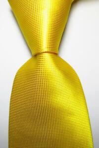New Classic Checks Yellow JACQUARD WOVEN 100% Silk Men's Tie Necktie