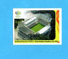 PANINI-GERMANY 2006-Figurina n.13- KAISERSLAUTERN-FRITZ WALTER STADION-NEW BLACK