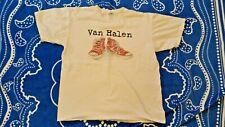 Great Vintage Van Halen Back With Sammy Hagar 2004 Tour White T-Shirt Size Large