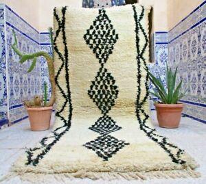 Vintage Moroccan Rug Handmade Azilal Rug Wool Old Tribal Kilim Berber Carpet