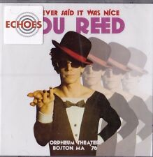 """LOU REED """"I NEVER SAID IT WAS NICE"""" LIVE ORPHEUM THEATER BOSTON OCT 1976 2-LP"""