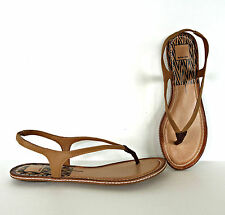 Womens Thong Vegan Leather Sandals 8.5 Dolce Vita Summer Shoes Flat Ankle Strap