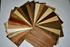 """Wood veneer mix 24 sheets 0,6mm 12-20cm X 30cm   (-1/42"""")(4""""- 8"""" X 12"""")"""