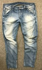 MENS G-STAR GSTAR RAW 5620 3D LOW TAPERED FIT JEANS W36 L34 BLUE PANTS