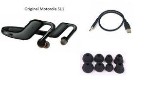 black Motorola S11-HD wireless bluetooth StereO music earbud Neckband Headphones
