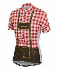 Red Lederhosen Short Sleeve Cycling Jersey Free Shipping