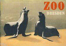 Ullrich Wir Zootiere stellen uns vor Zoo Dresden Werbung 1954 illustr Zawadzki