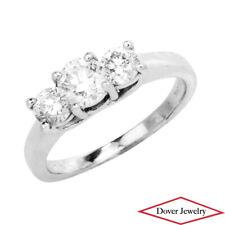 Estate Diamond 14K Gold Platinum Past Present Future Engagement Ring NR