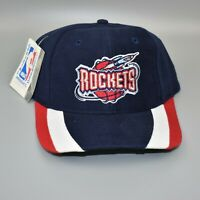 Houston Rockets Twins Enterprise NBA Vintage 90's Striped Brim Snapback Cap Hat