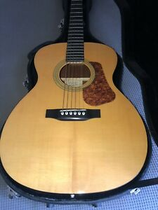 RECORDING KING ACOUSTIC GUITAR SOLID TOP Model R0-06 Includes Case And Picks
