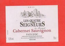Etiquette de vin - Les Quatre Seigneurs - Cabernet Sauvignon 2011  (179)