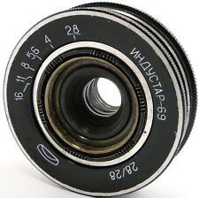 INDUSTAR-69 2.8/28 Russian Soviet USSR Wide Angle Pancake Lens M39 MMZ-LOMO #32
