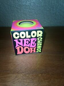New Sealed Schylling Color Changing Nee Doh Yellow Fidget Toy Squeeze Ball