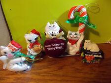 VINTAGE FANCY FEAST CHRISTMAS ORNAMENTS 1988, 1989, 1991, 1996, 1994  UNBOXED  E