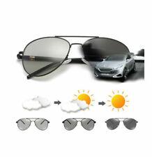 Polarized Sunglasses Transition Photochromic Glasses Metal Pilot Driving B391
