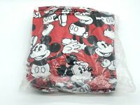 DISNEY Vintage Mickey Mouse Cartoon Red Twin Bed Ruffle NEW