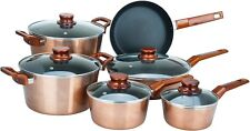 11-Pc Coating Metallic Aluminum Copper Nonstick Cookware Set Pots Pans Glass Lid