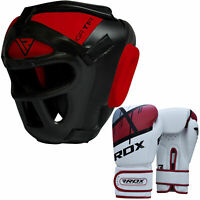 RDX MMA Head Guard With Boxing Gloves Karate Helmet Headgear Kick Muay Thai CA