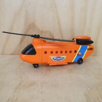 Vintage Galoob Micro Machines Chinook Transport Orange Helicopter