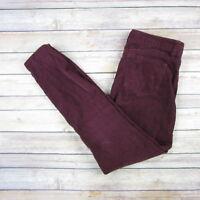 J.CREW Women's Skinny Corduroy Pants SIZE 27 Dark Purple