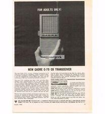 1963 Cadre C-75 CB Radio Transceiver Hand-Held Walkie-Talkie Vtg Print Ad