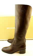 New MICHAEL KORS Dylan Size 9.5 M Barolo Brown Leather Women's Boots RETAIL $225