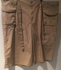 Woman Brand Size 22 Beige Brown Cargo Style Shorts Multi-pocket