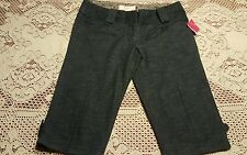 CANDIES Bermuda Walking Shorts, Sz 7, Color Blue, NWT