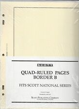 Pkg. of 20 SCOTT ACC121 National Quad-ruled Pages