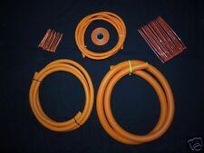 Ford   -  Orange Split Conduit Engine / Wiring Dress Up Kit  Boostjunkies