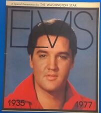 ELVIS 1935-1977 Special 16-page tabloid pull out from The Washington Star