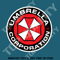 UMBRELLA CORP DECAL STICKER FUNNY WARNING STICKER REANIMATED LIVING DEAD DECALS