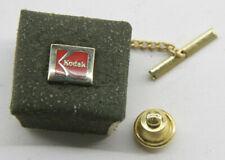 "Kodak Tie Tac Clip with Chain 3/8"" Discreet Logo Promo - Red/Gold - Stuck - V062"