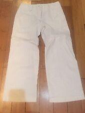Dorothy Perkins White Linen Trousers Size 12 Wide Leg, Ex Con