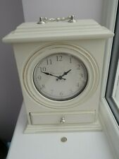 Hepworth and Son cream mantle clock with drawer Brand New