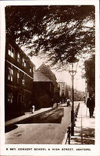 Ashford. Convent School & High Street by WHS Kingsway # S 8971.