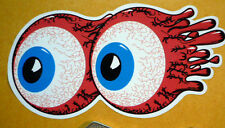 Screamin' Bloodshot Eyes old skool retro vintage hot rod custom sticker 3inch