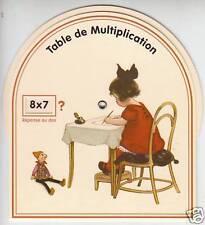 Objet de collection table de multiplication fille
