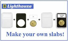 Coin Holder Slab For US Large Silver Dollar 38mm Lighthouse Everslab 5 Snaplocks