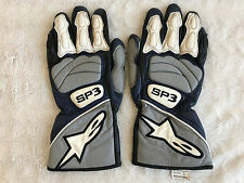 Alpinestars SP3 Mens Racing Motorcycle Gloves Size S Small Blue / White / Black