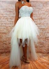 Vestido de bodas brevemente vestido de novia boda novia Corsage Vestido gr. 34,36 crema