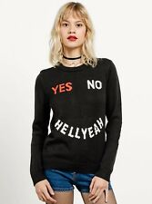 2017 NWT WOMENS VOLCOM HOLD ME PULLOVER SWEATER $50 S black elbow patches