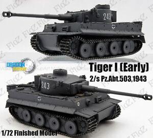 WWII Tiger I 2/s Pz.Abt. 503 Germany 1943 1/72 finished tank model Dragon