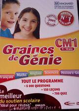 """PC """"Graines de Génie CM1"""" (Ludo-Educatif) NEUF SOUS BLISTER"""