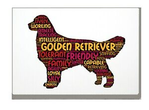 Golden Retriever Art Print Word Art A4 A3 Mothers Day Gift Personalised Option
