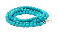 Bracelet Porte-Lunettes Collier Pierres Naturelles Perles BC Turquoise