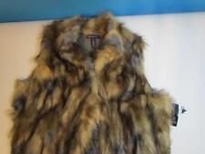 NWT INC International Concepts Plus Size Faux-Fur Sweater-Back Long Vest 3X